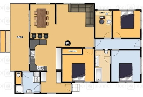 shared bathroom doubles as ensuite long narrow space help