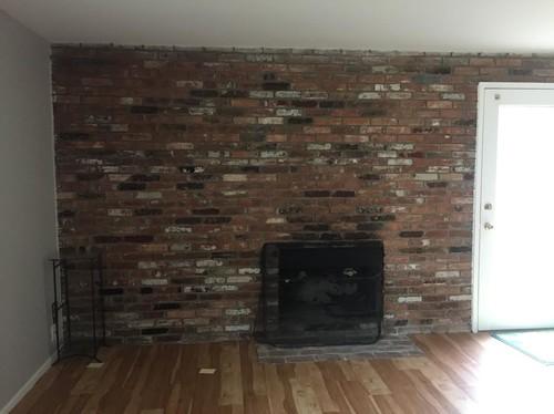 Glazed Brick Fireplace Surround