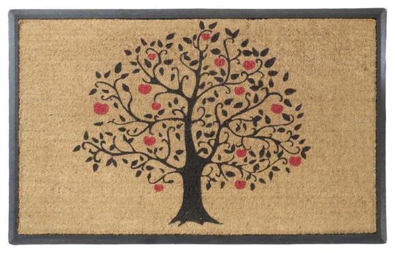 Apple Tree Rubber And Coir Double Doormat