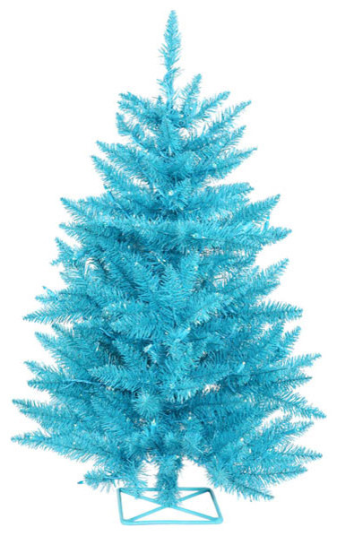 pre lit sparkling sky blue artificial christmas tree blue lights 3