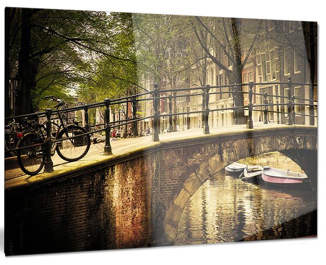 Design art usa romantic bridge over canal landscape for Metal garden bridge designs