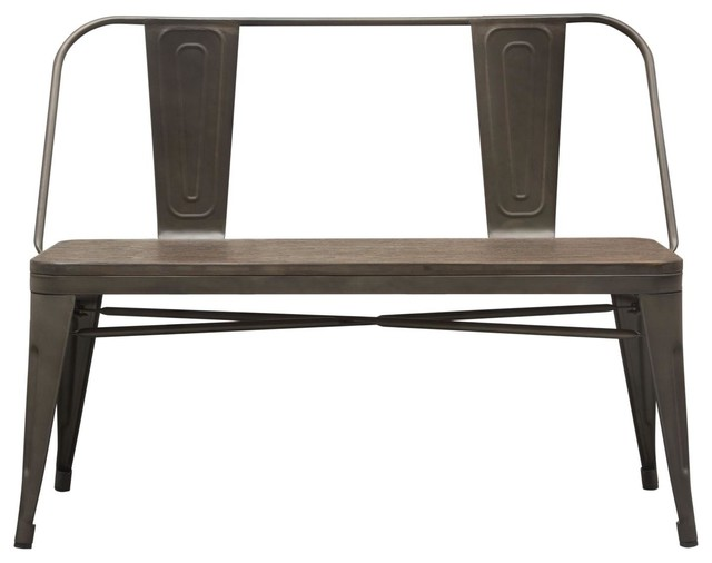 Swell Dining Side Bench With Bamboo Wood Seat Brown Customarchery Wood Chair Design Ideas Customarcherynet