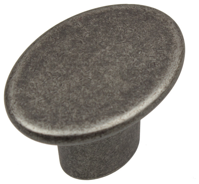 """GlideRite Hardware 1-1/2"""" Oval Cabinet Knob - Transitional - Cabinet And Drawer Knobs - by ..."""