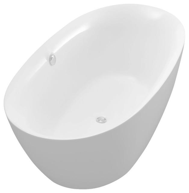 Adze Series 5.9&x27; Freestanding Bathtub, White.
