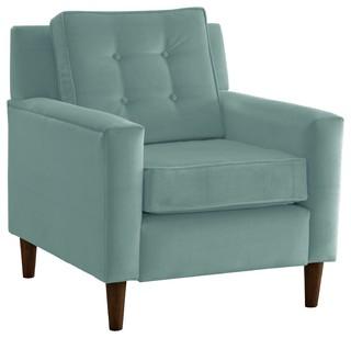 Arm Chair, Velvet Caribbean