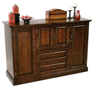 Howard Miller Bar Devino Wine and Bar Cabinet - Transitional - Wine And Bar Cabinets - by ...