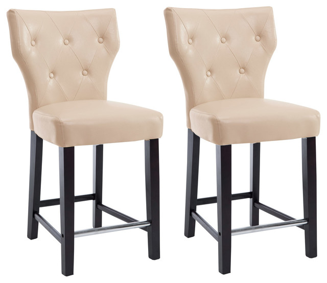Corliving Kings Counter Height Barstool Set Of 2 Transitional
