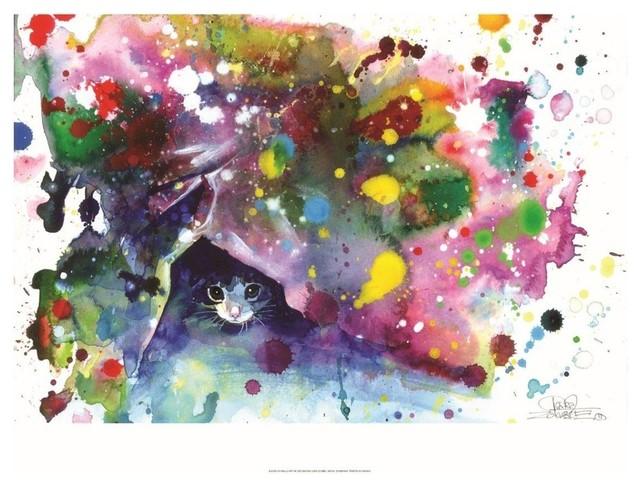 """""""Meow"""" Art Print by Lora Zombie, 70x100 cm"""