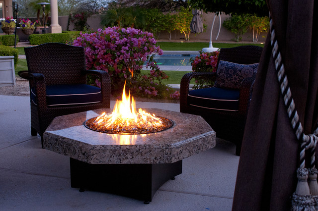 Modern Outdoor Fire Table