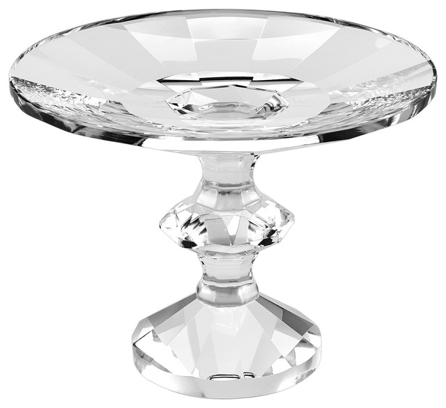 Nature Home Decor Sundance 7 Inch Clear Footed Crystal Compote