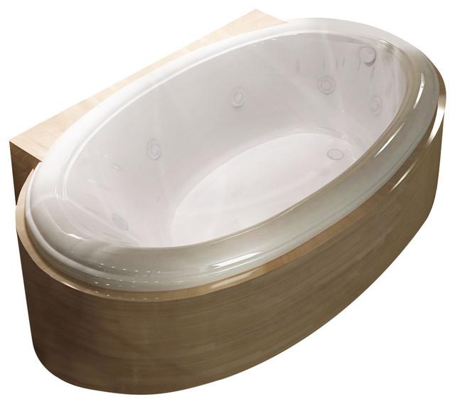 Vino Oval Whirlpool Bathtub, Left Drain Placement, Left Drain Placement.