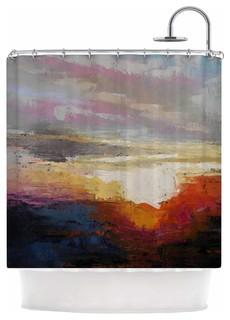 "KESS InHouse Carol Schiff ""Georgia Morning"" Multicolor Nature Shower Curtain"