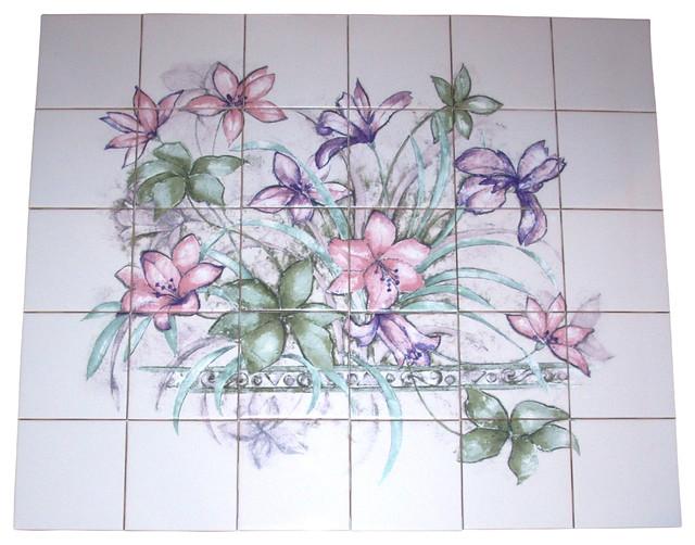 Kiln Fired Ceramic Tile Mural