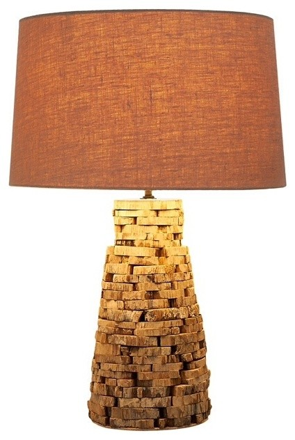Reclaimed Wood Slate Lamp 6x6 Rustic Table Lamps By Natural