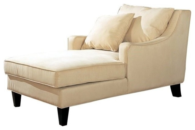 Coaster Microfiber Chaise Lounge Transitional Indoor Chairs By Gwg Outlet