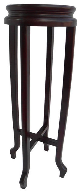 Asian Ming Style Round Rosewood Plant Stand Asian