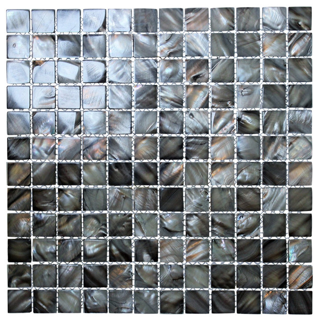 1251x1251 Black Pearl Silvery Gray Square Mother of Pearl