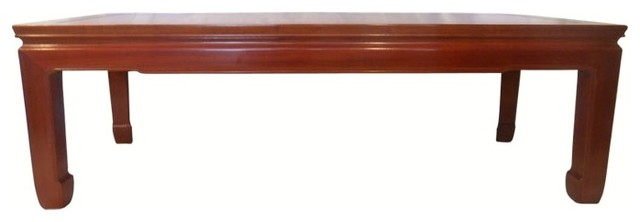 """48"""" Solid Rosewood Oriental Coffee Table, Simple Ming-Style"""