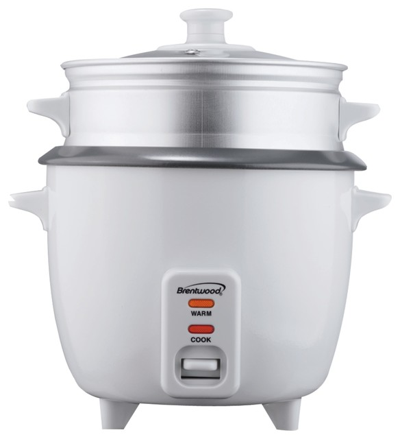 Brentwood Rice Cooker With Steamer, 5-Cup, 400w.