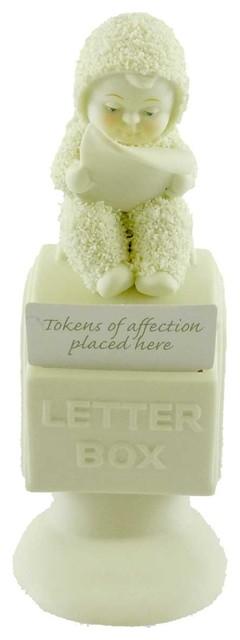 Dept 56 Snowbabies This Message Is Heaven Sent Porcelain Angel Letters 67927.