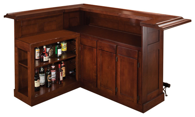 Superb Classic Large Bar With Side Bar Craftsman Wine And Bar Cabinets