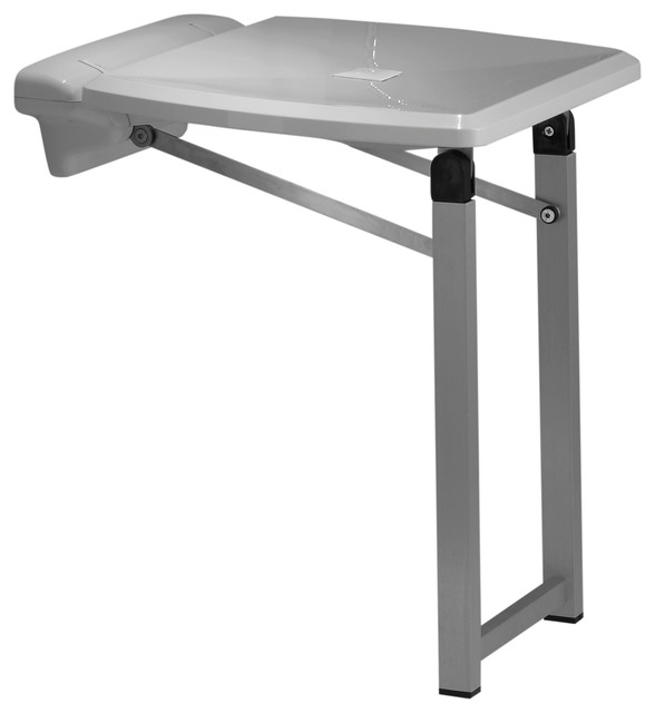 Fold Up Shower abs and steel fold up shower seat with legs - contemporary