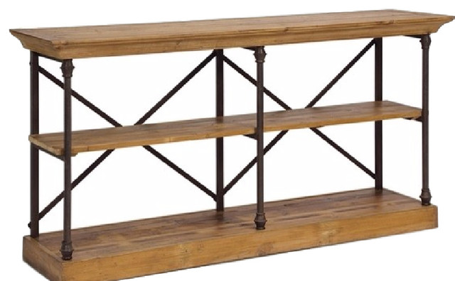 Sideboard With 2 Open Shelves Rustic Buffets And