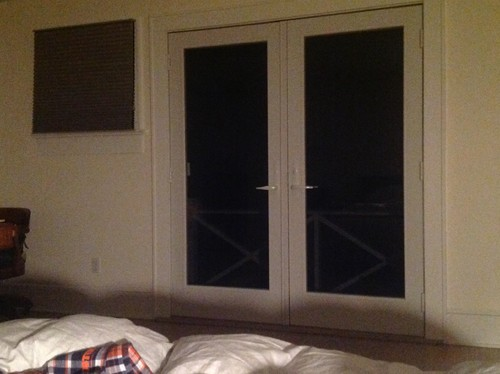 Need help with covering windows on French doors that are very ...
