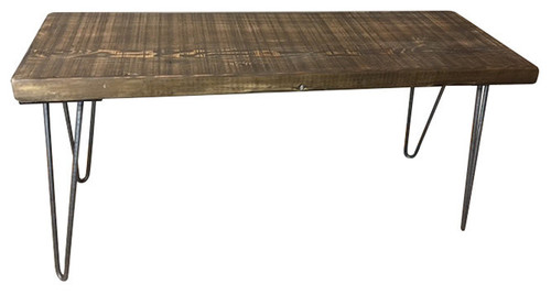 Reclaimed Urban Bench Handmade From Salvaged Barn Wood, 12x48x18, Scorched