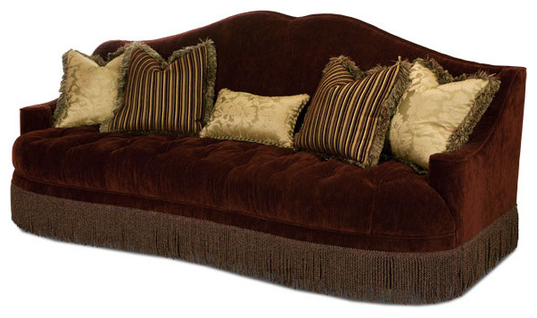 Imperial Court Fabric Tufted Sofa Traditional Sofas