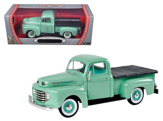Ford F  Pickup Truck With Flatbed Cast Model Car By Road Signature Contemporary Decorative Objects And Figurines By Oxeme Group Inc