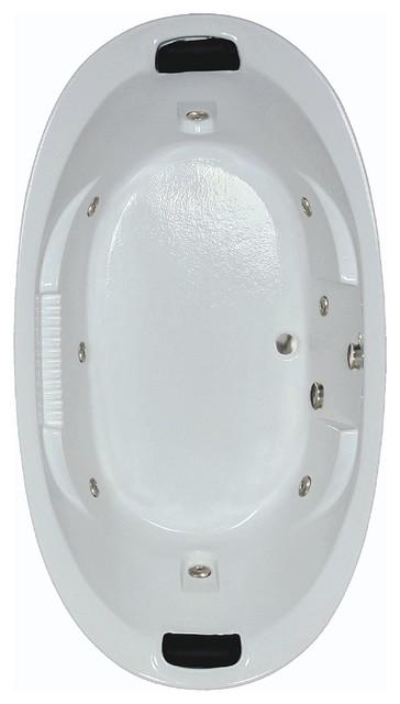 "84""L x 46""W White Whirlpool Bath"