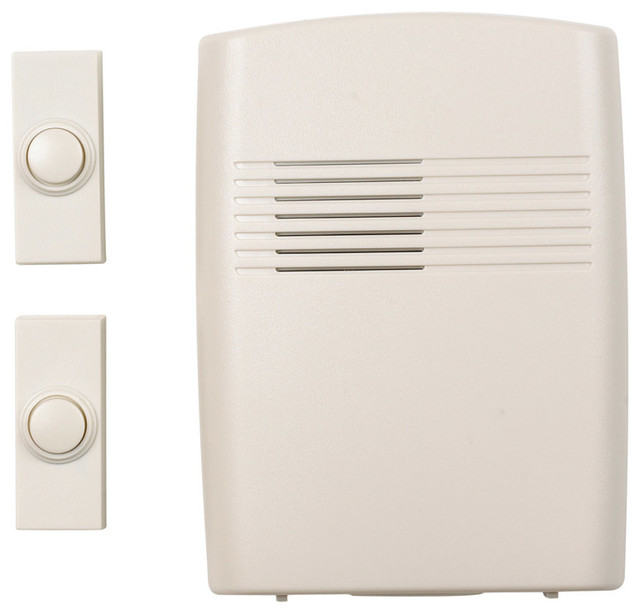Heath Zenith Wireless Front Back Door Chime Transitional