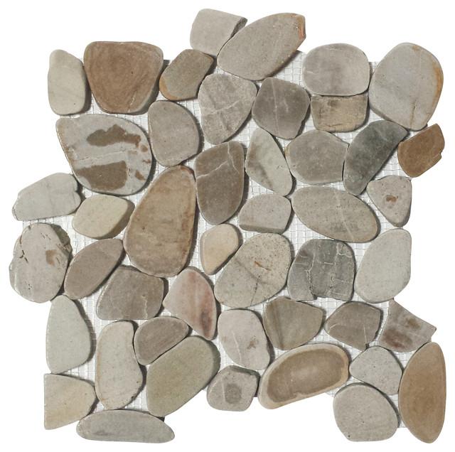 12 X12 Flat Zion Pebble Tiles