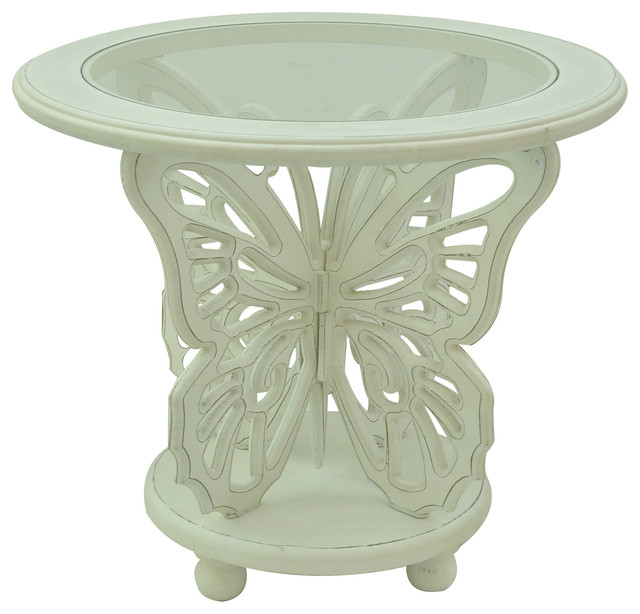 Amazing Bethany White Butterfly Table 25x25x22.5 Transitional Table Lamps