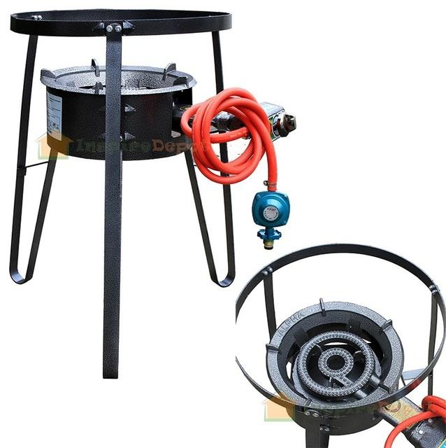 Single Propane Gas Stove Burner With Stand.