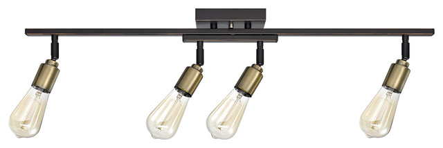 Bryce 4 light oil rubbed bronze and antique brass track lighting bryce 4 light oil rubbed bronze and antique brass track lighting bulbs included aloadofball Choice Image