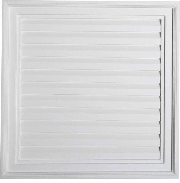 Vertical Gable Vent Louver Traditional Registers