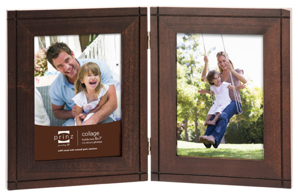 dryden espresso 2 picture hinged frame 5x7 modern picture