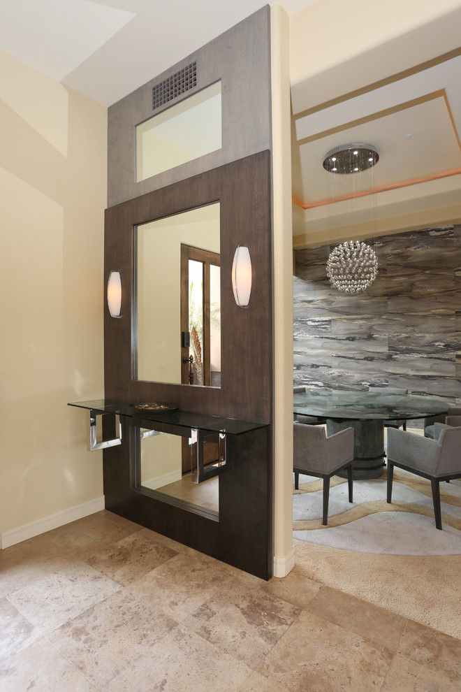 * 2014 FIRST PLACE WINNER - ASID - FURNITURE *- View of Entrance and Dining Room