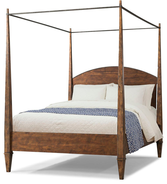 Klaussner Trisha Yearwood Home Canopy Bed, Cal King, Coffee ...