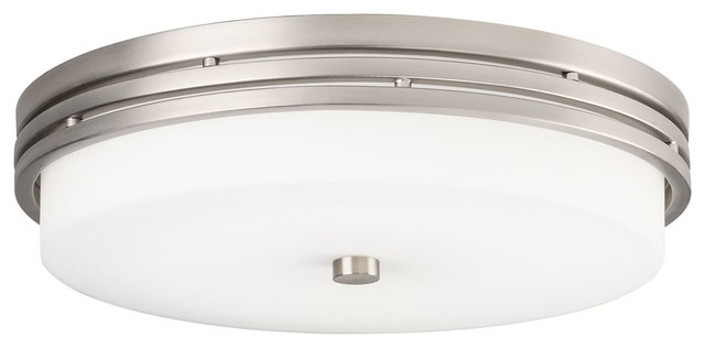 Ceiling Space Flush Mount Led, Brushed Nickel.