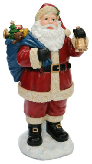 """Nature&x27;s Mark Nm-X15232aa Jolly Santa Table Top Character, 10.5"""" Height."""