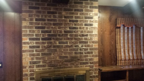 1970 S Brick And Fake Wood Paneling