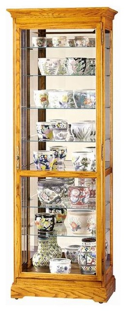 Chesterfield II Beveled Glass Curio Cabinet - Traditional - China Cabinets And Hutches - by ...