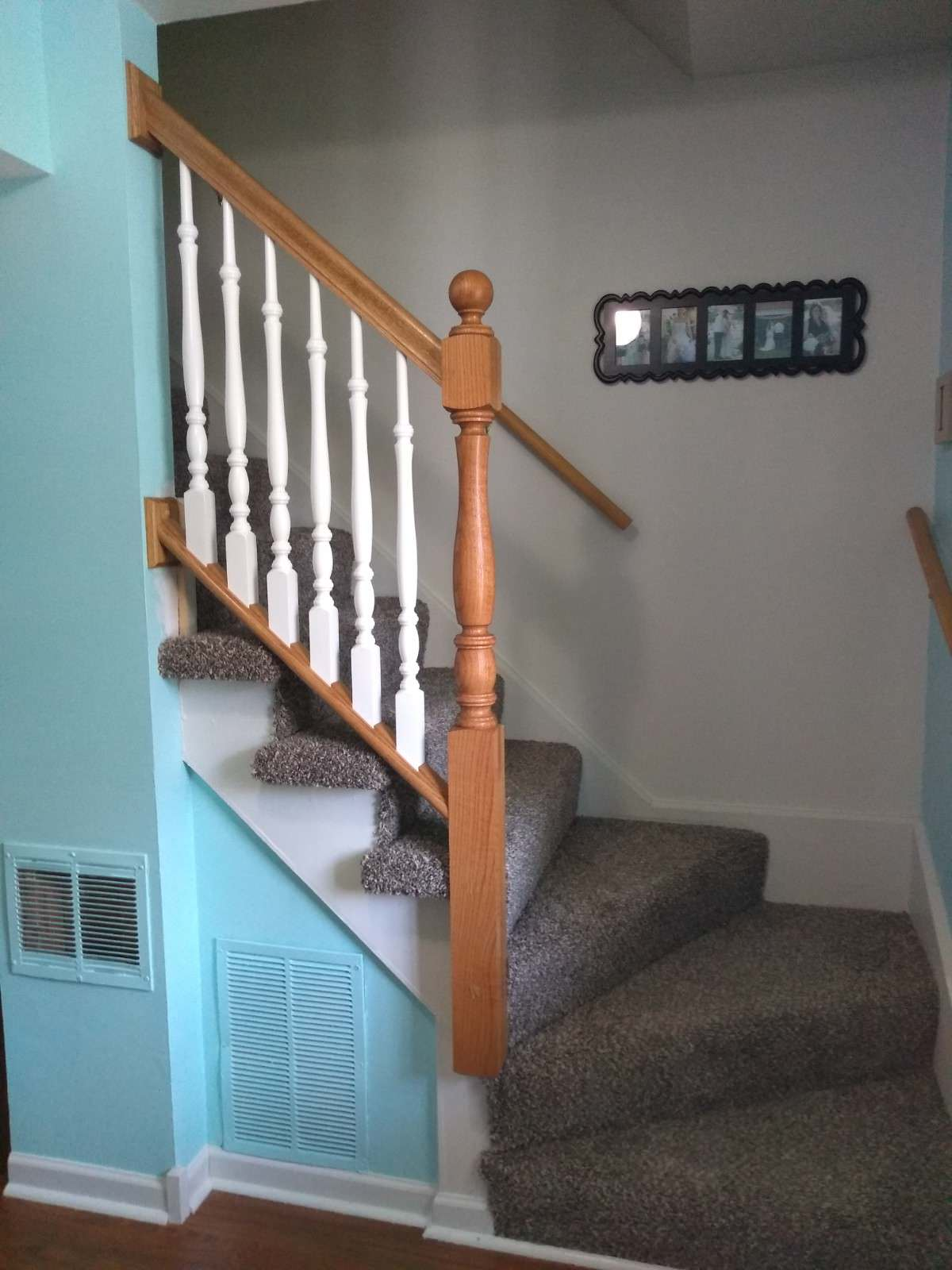 Small Removable Stair Railing - AFTER