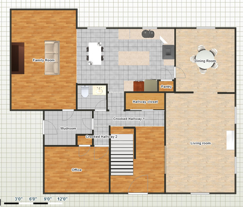 house floor plans no hallways. Kitchen redesign  1 Only family room wall is moved No solution to the crooked hallway Want your opinion on kitchen flow