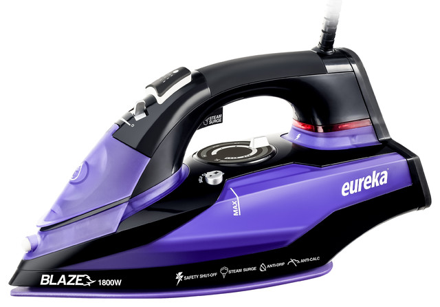 Eureka Blaze Original Hot Iron With Steam, Purple.