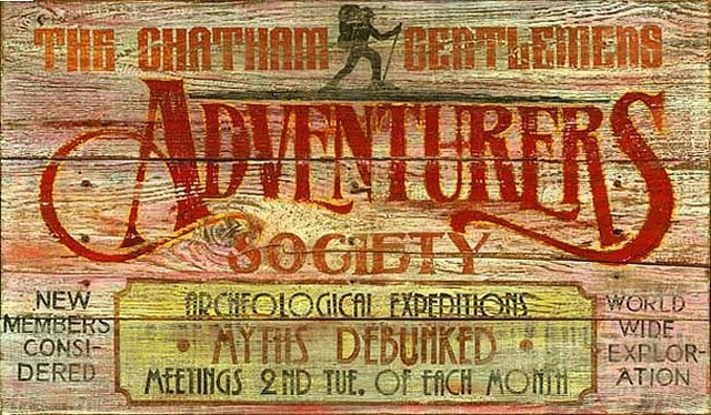 Vintage Signs Adventurers Club Rustic Novelty Signs
