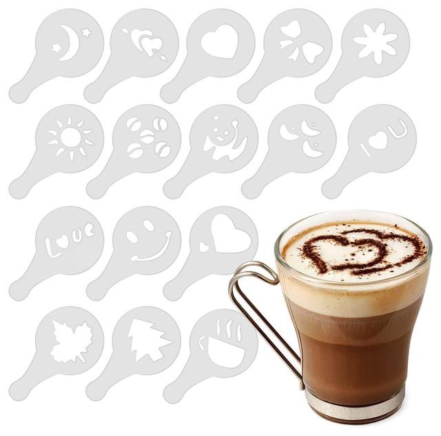 Coffee Barista Stencil Set Modern Coffee And Tea Maker Accessories